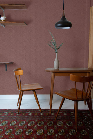 Cafe Chevron Wallpaper in Burnt Sienna from the More Textures Collection by Seabrook Wallcoverings
