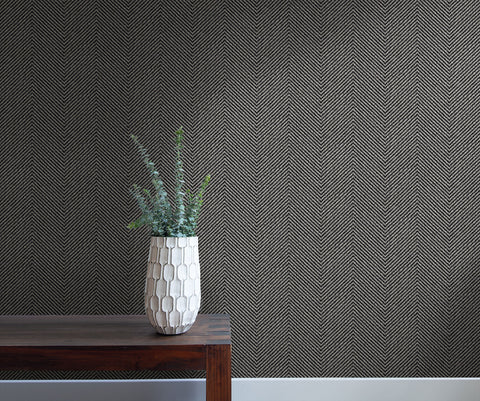 Cafe Chevron Wallpaper in Twilight from the More Textures Collection by Seabrook Wallcoverings