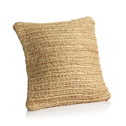 Cagliari Handwoven Natural Throw Pillow