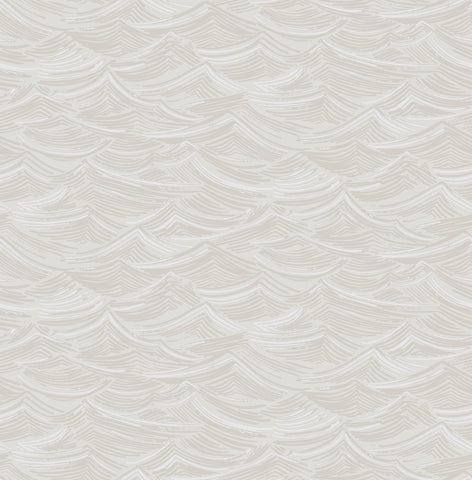 Calm Seas Wallpaper in Grey and White from the Day Dreamers Collection by Seabrook Wallcoverings