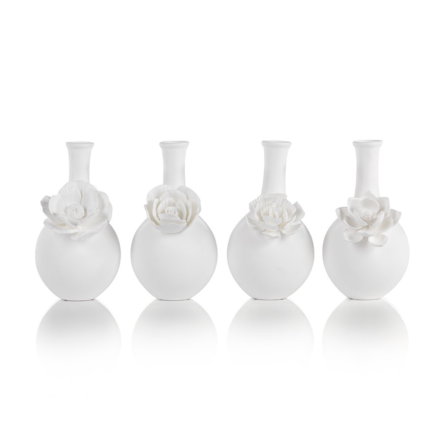 Cameo Long Neck Porcelain Bud Vase by Panorama City