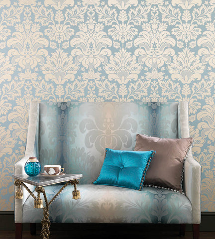 Campbell Damask Wallpaper by Nina Campbell for Osborne & Little