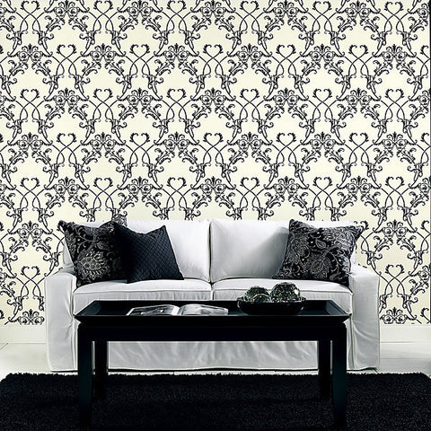Candela Chandelier Wallpaper in Brown by Brewster Home Fashions