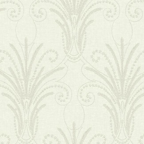 Candlewick Wallpaper in Ivory and Beige from the Norlander Collection by York Wallcoverings