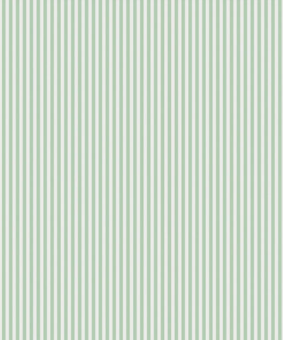 Candy Stripe Wallpaper in Sea Spray by Bethany Linz for Milton & King
