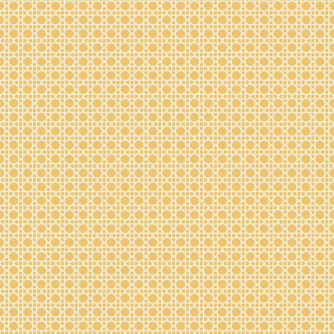 Caning Peel Stick Wallpaper In Yellow By Roommates For York Wallcove Burke Decor