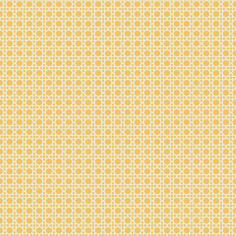 Caning Peel & Stick Wallpaper in Yellow by RoomMates for York Wallcoverings