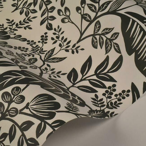 Canopy Wallpaper in Black and White from the Rifle Paper Co. Collection by York Wallcoverings