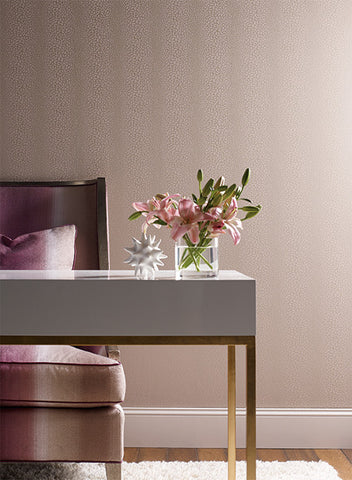 Canopy Wallpaper in Pink design by Candice Olson for York Wallcoverings
