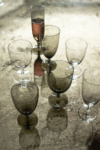 Set of 4 Amwell Clear Glassware in Various Sizes design by Canvas