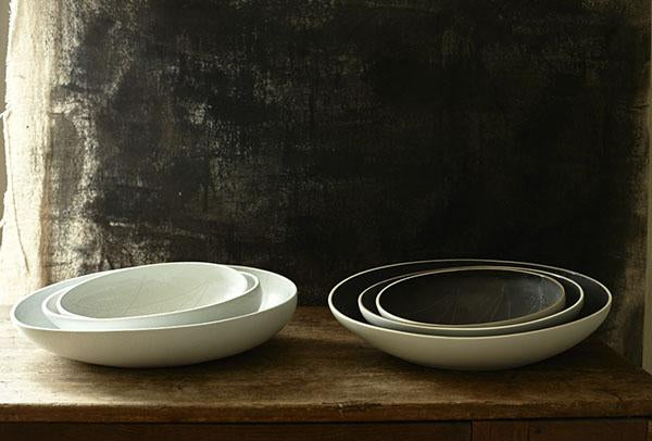 Anabra Shallow Bowl in Matte White design by Canvas