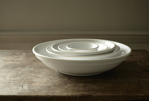 Gerona White Nesting Bowl in Various Sizes design by Canvas