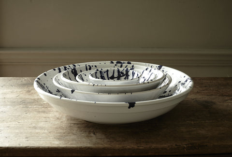 Gerona Splatter Nesting Bowl in Various Sizes design by Canvas