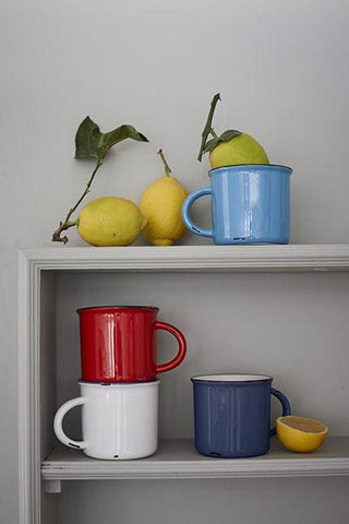Set of 4 Tinware Espresso Mugs in Various Colors design by Canvas