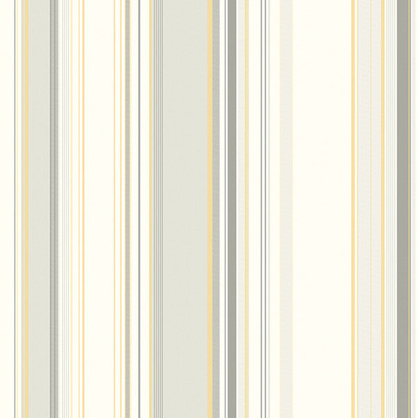 Sample Cape Elizabeth Grey Stripe Wallpaper from the Seaside Living Collection by Brewster Home Fashions