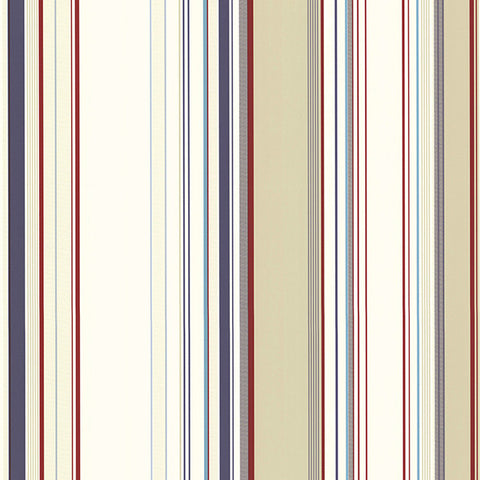Cape Elizabeth Red Stripe Wallpaper from the Seaside Living Collection by Brewster Home Fashions