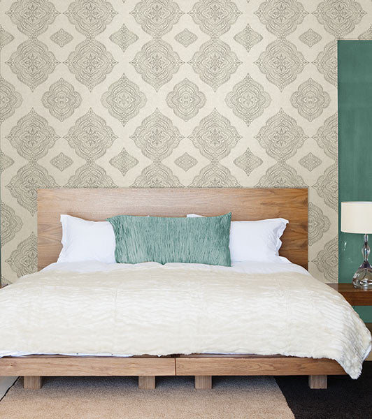 Capella Fog Medallion Wallpaper from the Avalon Collection ...