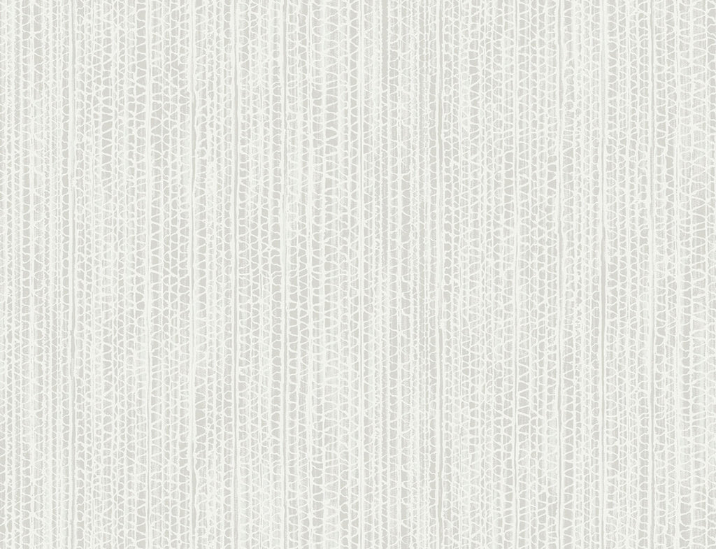 Sample Cardboard Faux Wallpaper in Metallic Pearl and Heather Grey from the Living With Art Collection by Seabrook Wallcoverings