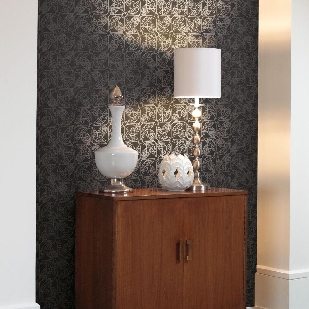 Cartouche Wallpaper by Antonina Vella for York Wallcoverings