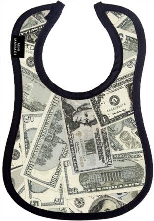 Cash Money Baby Bib by Mini Maniacs