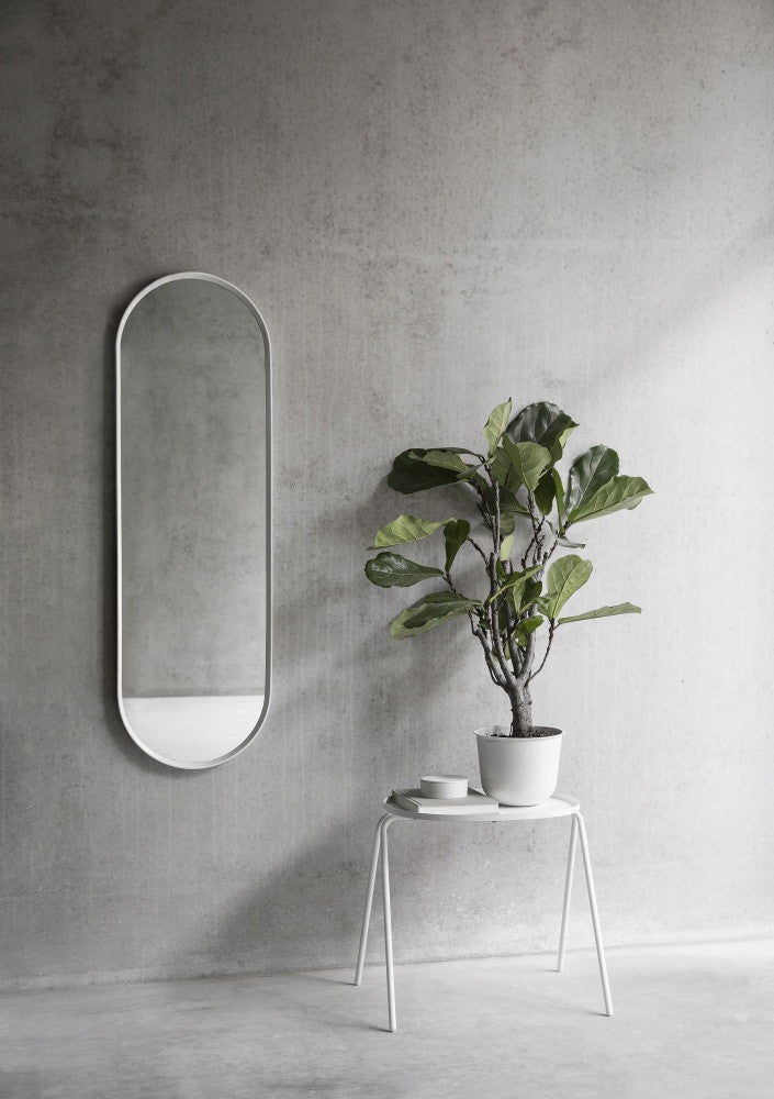 Oval Wall Mirror in White design by Menu