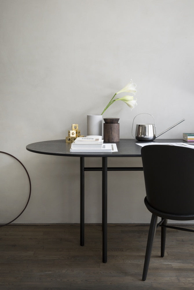 Snaregade Oval Dining Table in Blackdesign by Menu