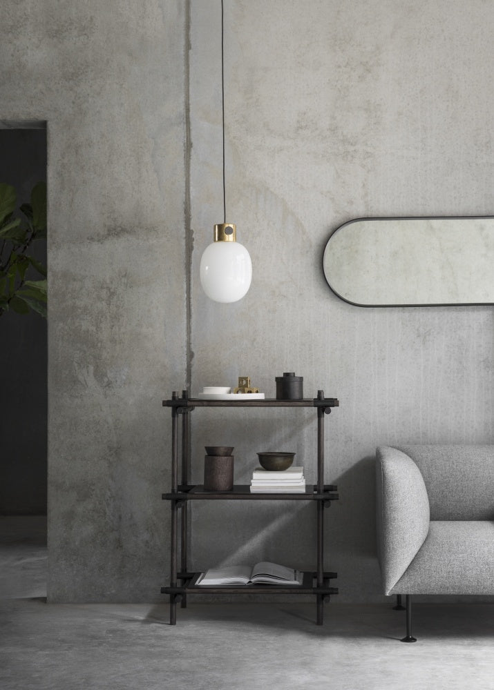 JWDA Metallic Pendant Lamp in Brushed Steel design by Menu