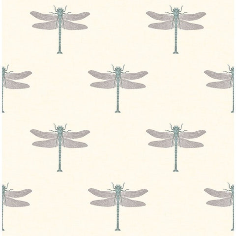 Catalina Wallpaper in Black, White, and Aqua from the Tortuga Collection by Seabrook Wallcoverings