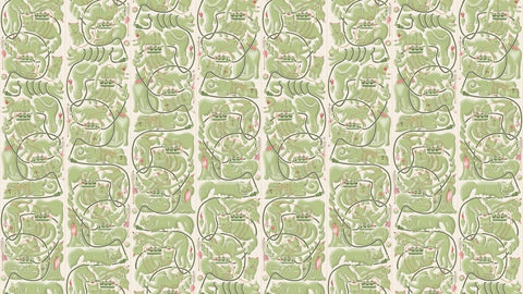 Cats & Cords Wallpaper by Erik Van Der Veen for NLXL Wallpaper