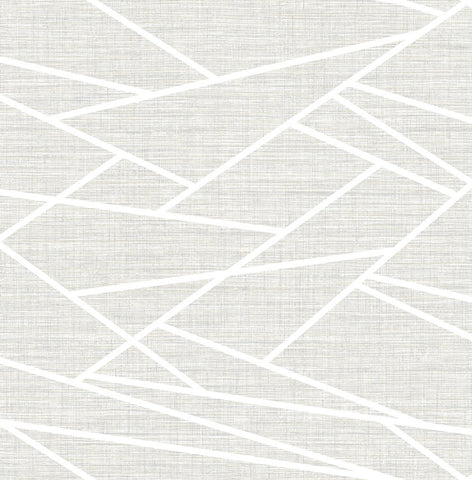 Cecita Puzzle Wallpaper in Grey from the Lugano Collection by Seabrook Wallcoverings