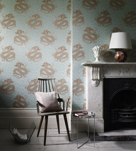 Celestial Dragon Wallpaper by Matthew Williamson for Osborne & Little