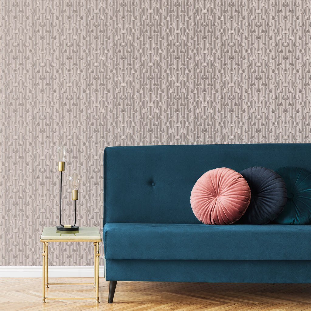 Chaillot Pink and Rose Gold Wallpaper from the Capsule Collection by Graham & Brown