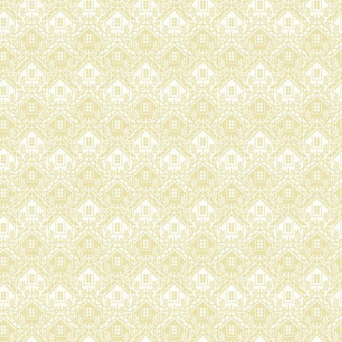 Chalet Wallpaper in Yellow and Ivory from the Norlander Collection by York Wallcoverings