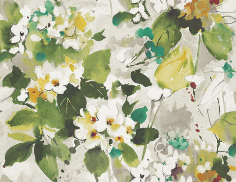 Chambon Floral Wallpaper in Green and Yellow from the Lugano Collection by Seabrook Wallcoverings