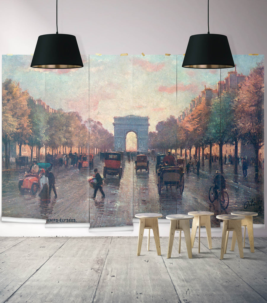 Sample Champs Elysees Wall Mural from the Erstwhile Collection by Milton & King