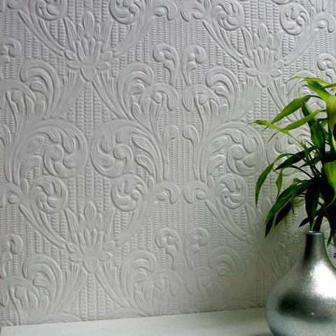 Charles Paintable Supaglypta Wallpaper design by Brewster Home Fashions