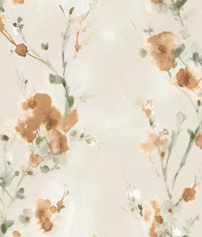 Charm Wallpaper in Blaze from the Breathless Collection by Candice Olson for York Wallcoverings