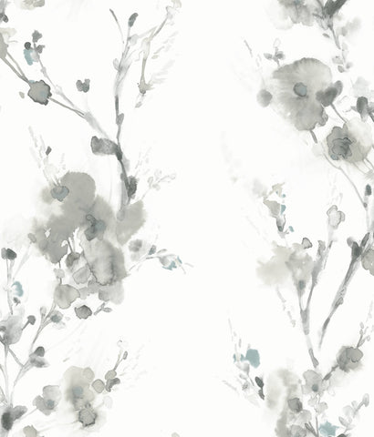 Charm Wallpaper in Grey from the Breathless Collection by Candice Olson for York Wallcoverings