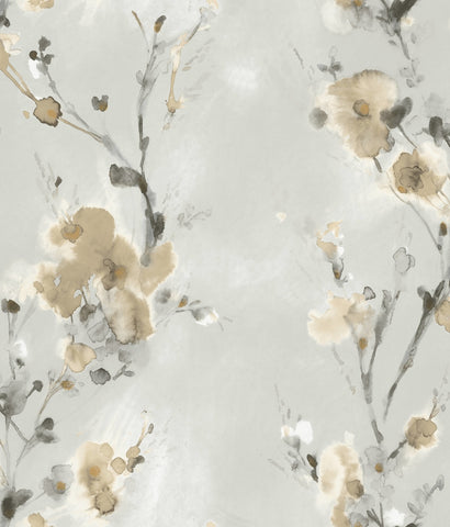 Charm Wallpaper in Neutral from the Breathless Collection by Candice Olson for York Wallcoverings