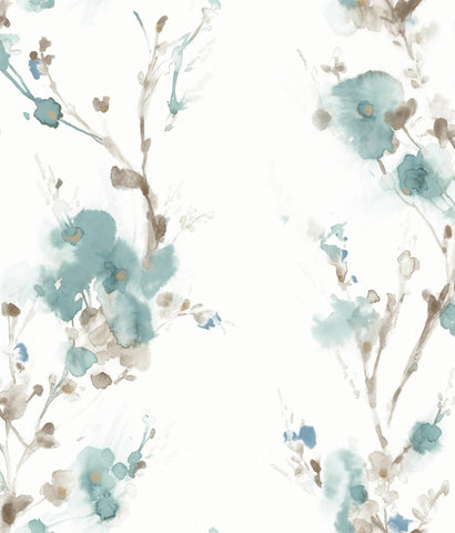 Charm Wallpaper in Teal from the Breathless Collection by Candice Olson for York Wallcoverings
