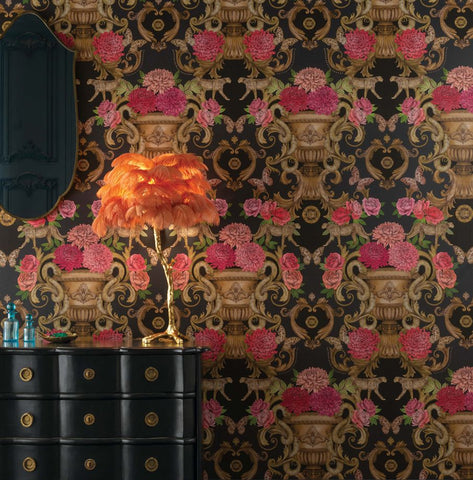 Chateau Wallpaper in Noir from the Daydreams Collection by Matthew Williamson for Osborne & Little