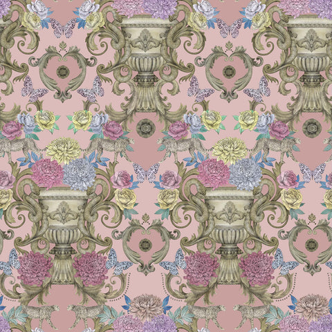Chateau Wallpaper in Pink from the Daydreams Collection by Matthew Williamson for Osborne & Little