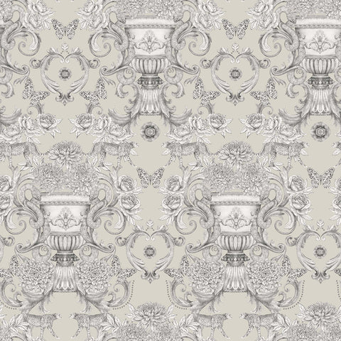 Chateau Wallpaper in Stone from the Daydreams Collection by Matthew Williamson for Osborne & Little