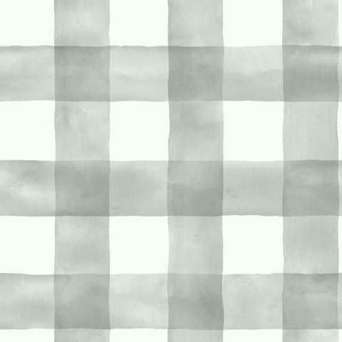 Checkmate Watercolor Peel & Stick Wallpaper in Grey by York Wallcoverings