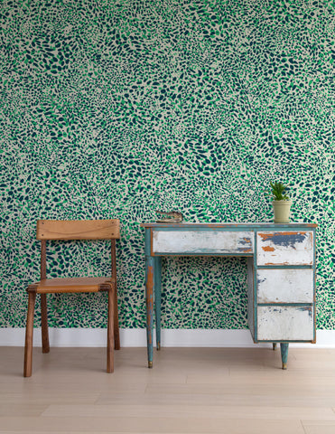 Cheetah Vision Wallpaper in Grassland design by Aimee Wilder