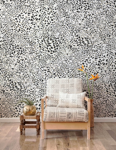 Cheetah Vision Wallpaper in Haze design by Aimee Wilder