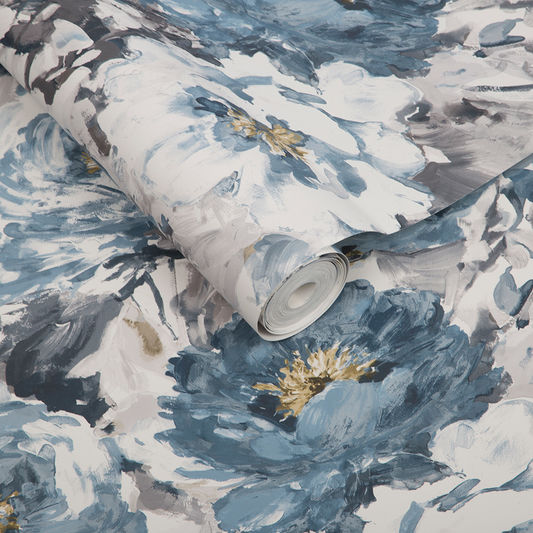 Sample Chelsea Wallpaper in Night Sky from the Exclusives Collection by Graham & Brown