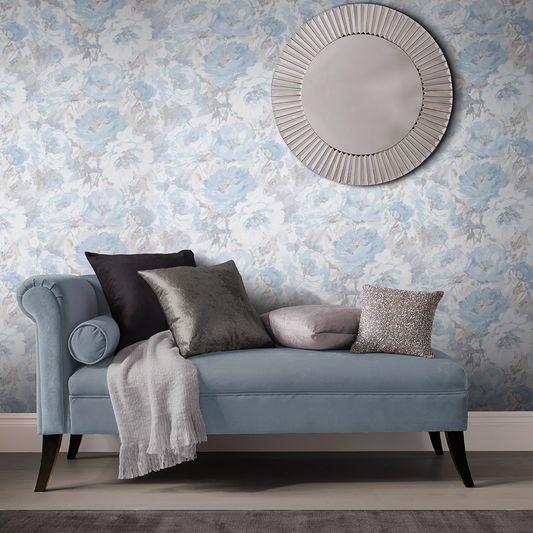 Chelsea Wallpaper in Sky from the Exclusives Collection by Graham & Brown