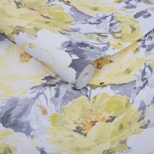 Sample Chelsea Wallpaper in Sun from the Exclusives Collection by Graham & Brown