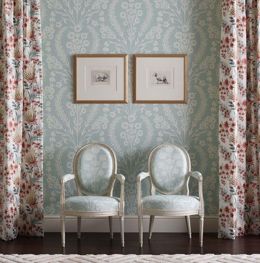 Chelwood Wallpaper from the Ashdown Collection by Nina Campbell for Osborne & Little